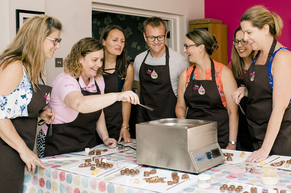 A chocolate workshop as a reward for employees, incorporated into a corporate away day