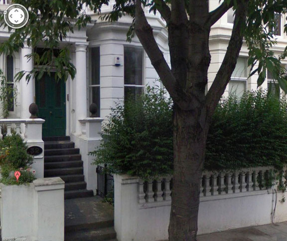 Davy's home - 32 Russell Road, Kensington, London,UK