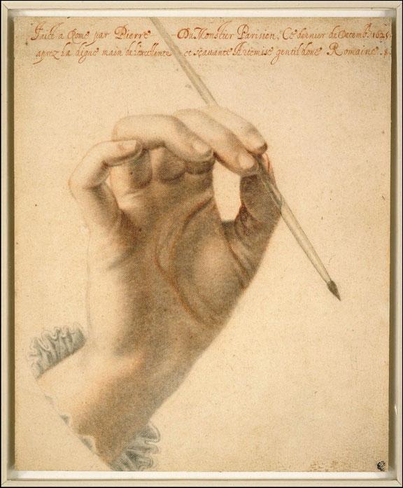 """Pierre Dumonstier, """"Mano di Artemisia"""" (1625)"""