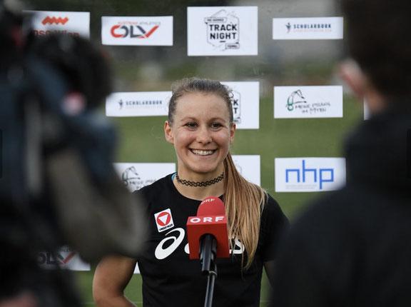 Julia mayer laufen orf Sport plus dsg Wien midsummer night track 5000 meter Staatsmeisterin Bestzeit Halbmarathon ölv wiener Meisterin