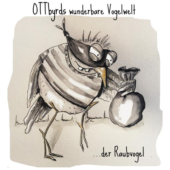raubvogel, wortspiel, bad bird, robber, bords of prey, ottbyrds