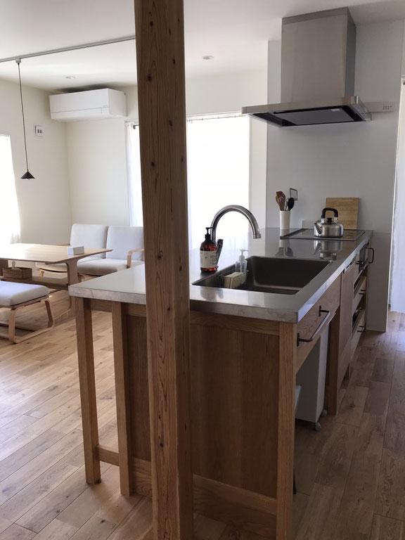 木のキッチン オークのキッチン オーダーキッチン 造作キッチン