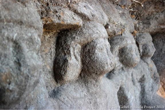 statues découvertes à gebel silsileh