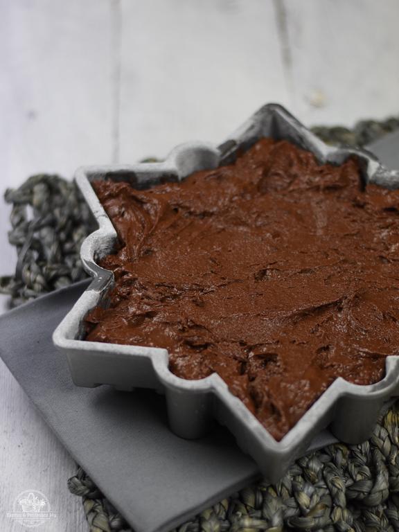 Schneeflocken Schokoladenkuchen