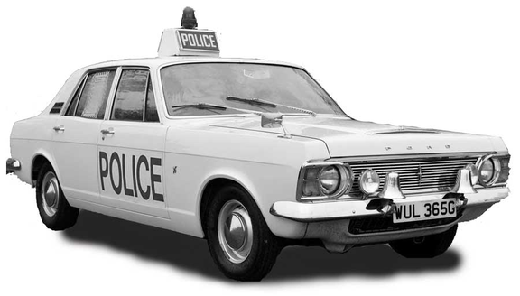 Early 1970s Ford Zephyr police car - decorative picture