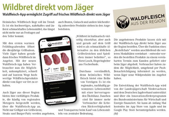 Wildfleisch kaufen App