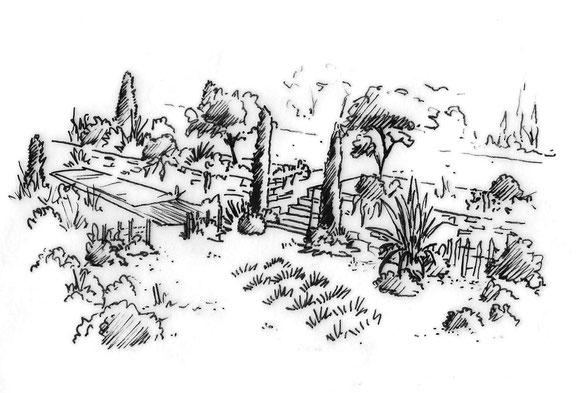 jardin provencal restanques