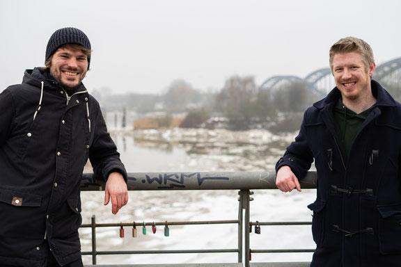 Gerrit Fuß und Manuel Muja in Rothenburgsort (Bild: Sonja Lattwesen)