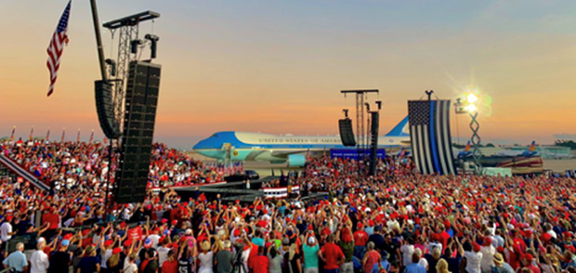 Trump rally in Florida, official campaign image, https://www.donaldjtrump.com/