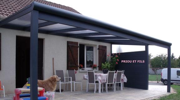 pergola en aluminium, Priou et Fils, 41700 Contres, Blois, Loir et Cher