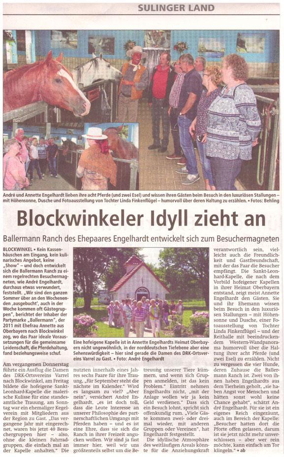 Sulinger Kreiszeitung vom 08. Juni 2017, Red. Andreas Behling