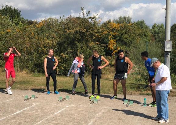 Vorbereitung zum 100-m-Lauf!