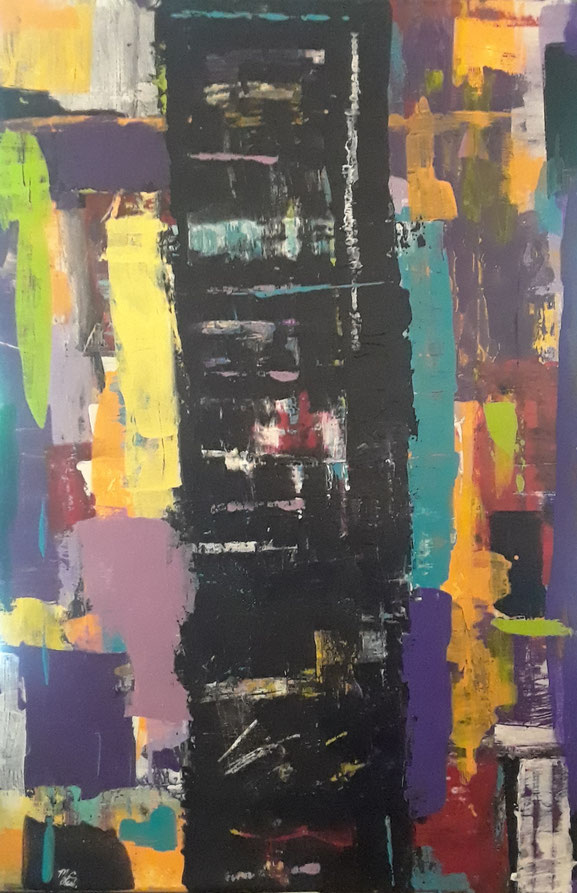 "C1 0013  Memphis     Acrylic on Canvas  May 05, 2017  20.00"" H x 16.00"" W"