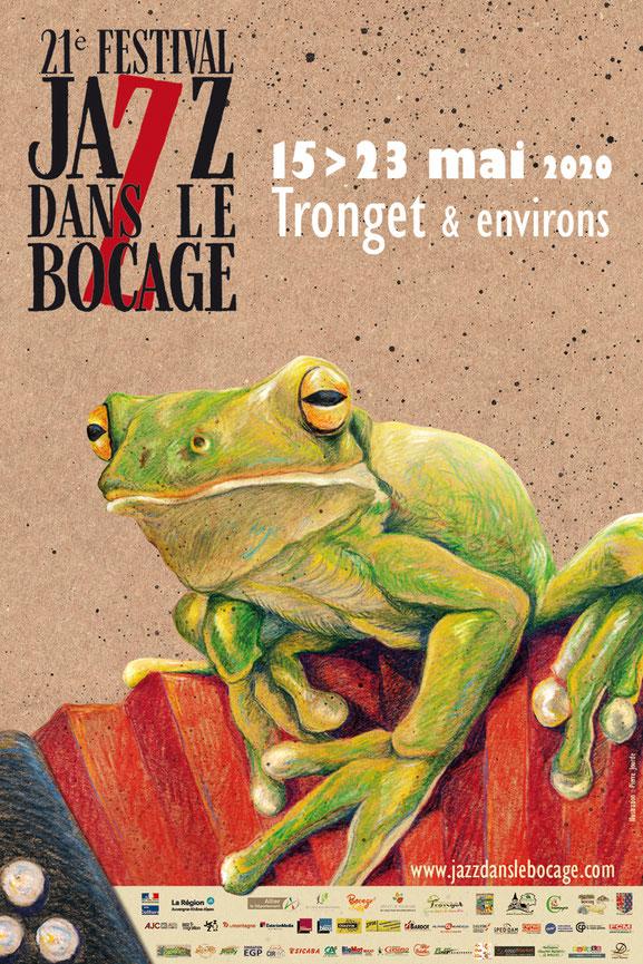Affiche 40x60 21e festival Jazz dans le Bocage