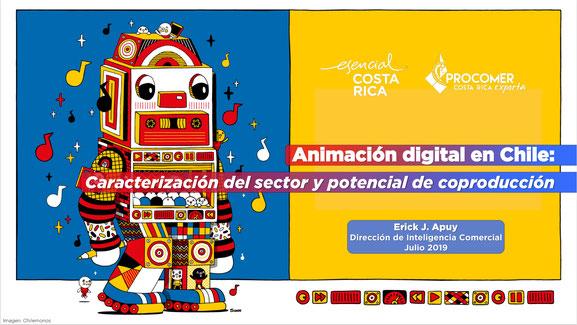 Portada estudio PROCOMER Caracterización de la animación digital  en chile y potencial de coproducción