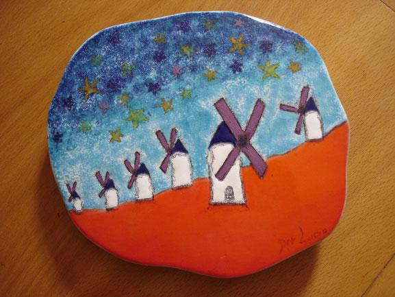 Dessous de plat / Tableau-hommage à la peinture de Luc Meinrad - 2006