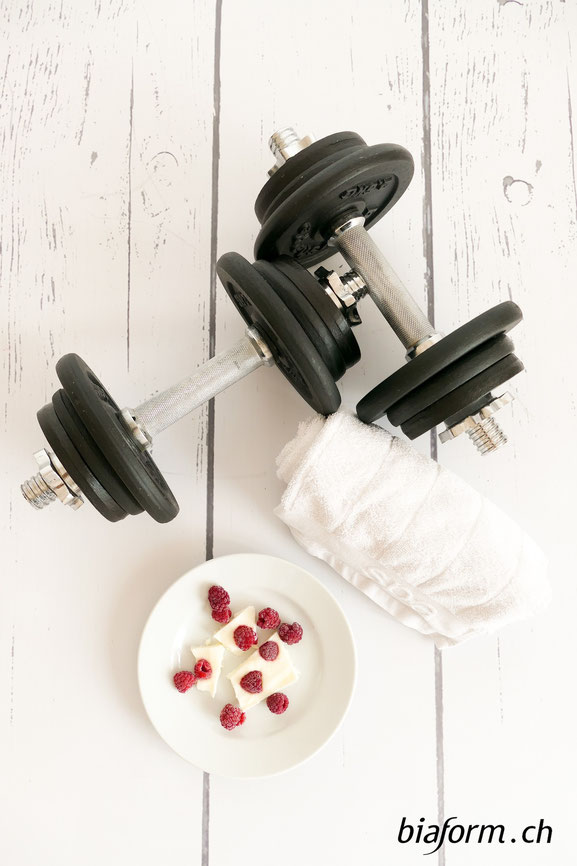 Healthy Snack, Fitness Snack, Eiweiss Snack, Himbeere - Joghurt Ecken, Fitnessfood