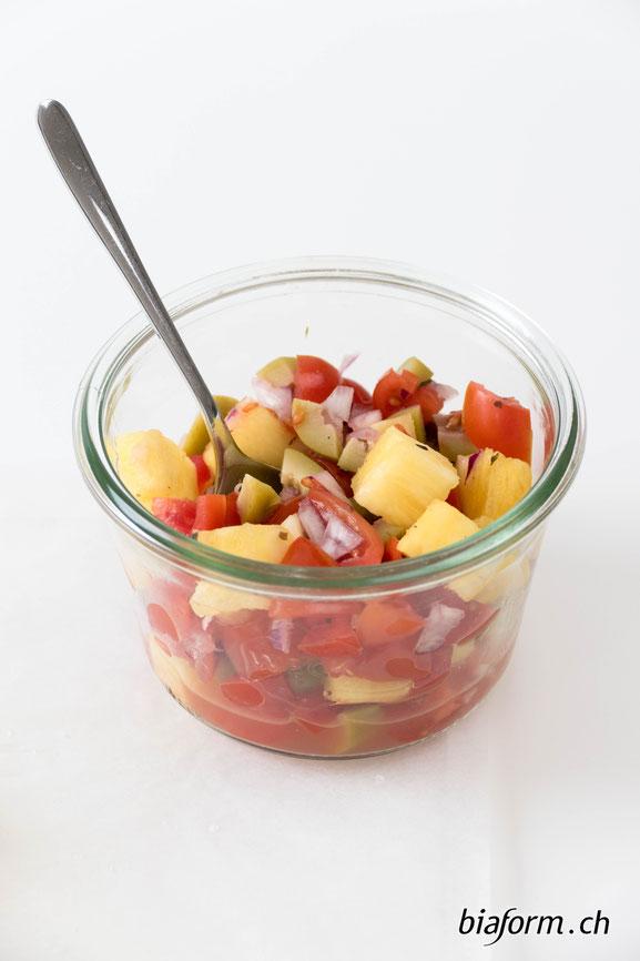 Tomaten Ananas Salsa, Schweizer Foodblog, Schweizer Blog, gesunde Ernährung