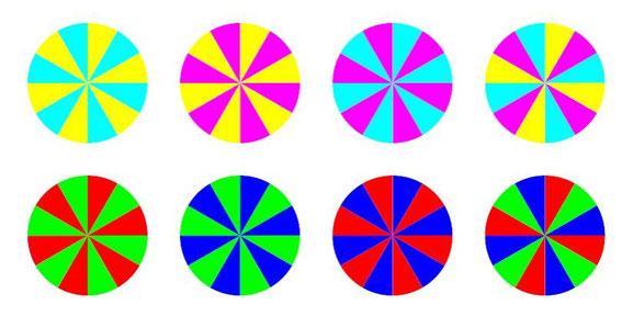 toupies en couleur à imprimer