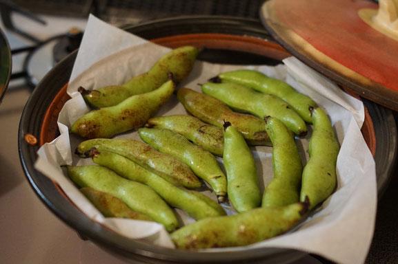 陶芸家 ブログ 茨城県笠間市 土鍋 ソラマメ 直火焼き 美味しい食べ方 旬の野菜 無水調理