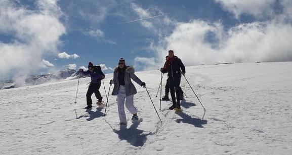 Randonnée en raquettes immersion journee montagne douceur Ariege Pyrennees