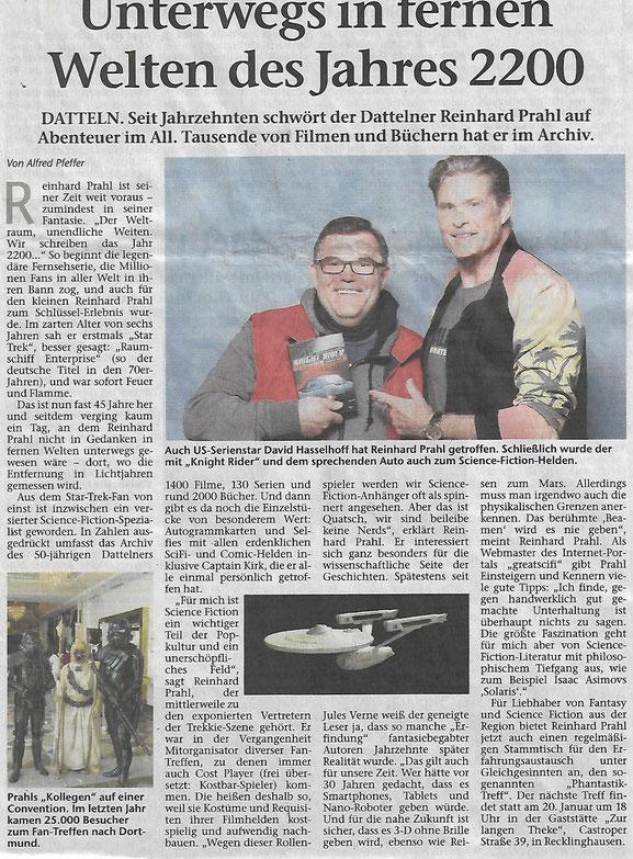 Artikel in der Dattelner Morgenpost vom 04.12.2017, sowie später in anderen Zeitungen im gesamten Vest