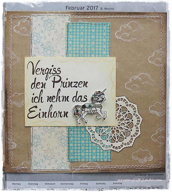 stampin up - DP Cupcakes und Karusells - Carousel Birthday - Brushwork Alphabet - Delicate details