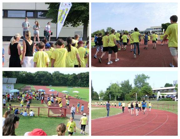 Montag, 15. Juli 2013: Schülerinnen und Schüler der Samuel-Heinicke-Realschule für Hörgeschädigte laufen für Kinder in Afrika