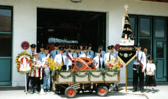 Abholung der neuen TS 8/8 am Feuerwehrhaus in Scheyern