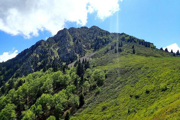 Début de la descente après un dernier coup d'oeil sur le Pic de Bazès.