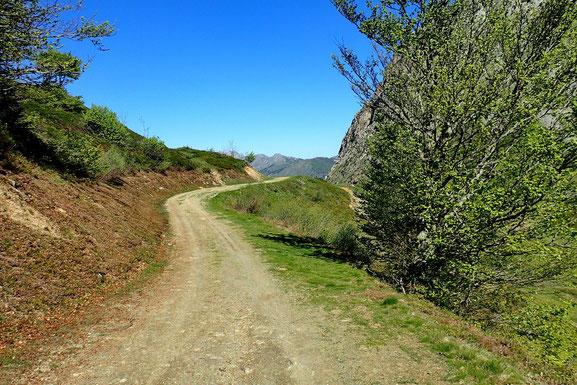 A l'approche du Col de Bazès.
