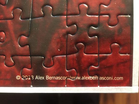 Puzzle mit Artglass / Staubdicht abgeklebt (Päckli)