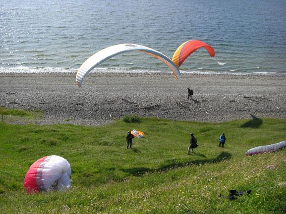 Guten Wind hatten wir bei der Paragleiterreise in Dänemark 2012
