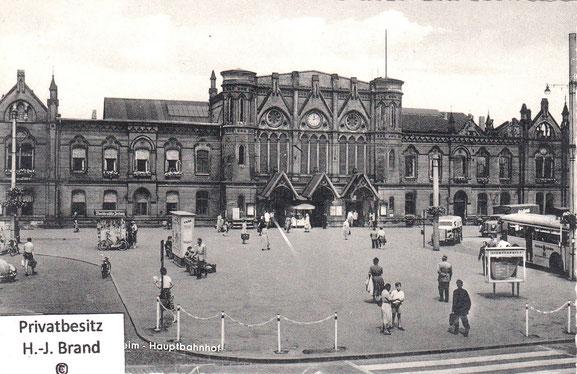 Der Hauptbahnhof nach 1945, kurz vor dem Abriß