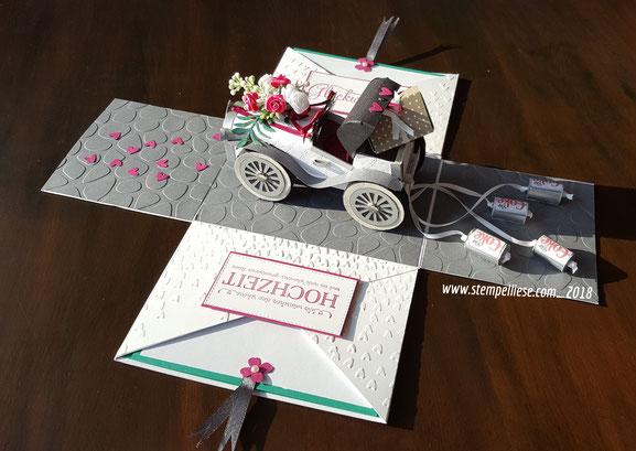#Explosionsbox #Geldgeschenk #Hochzeit #stempelliese.com #stampinup