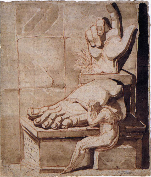 "Johann Heinrich Füssli, ""Artista commosso davanti ad un frammento romano"" (1779)"