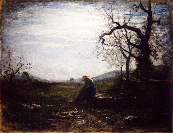 """Antonio Fontanesi, """"La solitudine"""" (1875)"""