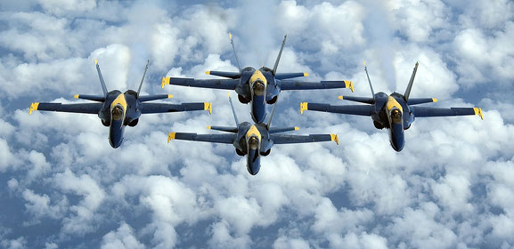 Flugzeuge als Beispiel für gleichförmige Bewegung