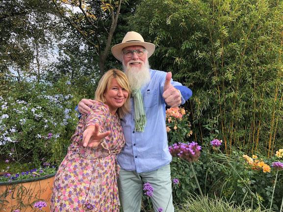 Imke Riedebusch (NORDSTIL) & Gartenbotschafter John Langley ®
