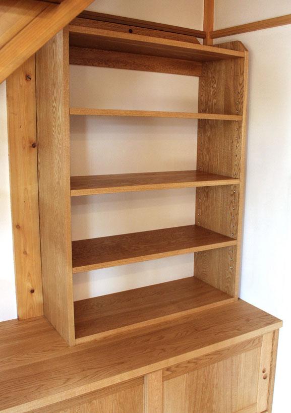 階段下の造り付け収納&飾り棚(愛川町・M様邸)飾り棚部分