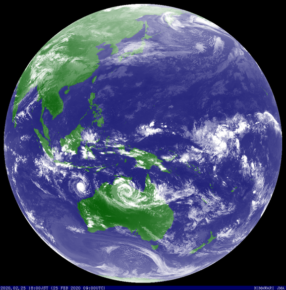 Tropical cyclone Ferdinand and ex-TC Esther, 25/02/2020. Image from JMA