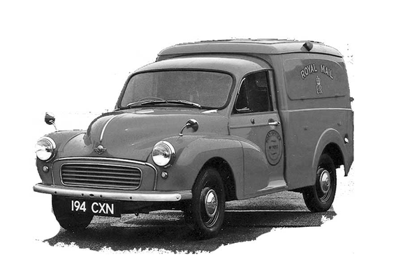Vintage British Morris Minor van from the early 1970s. Used by the Post Office.