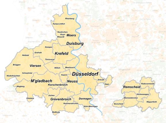 Karte Verbreitungsgebiet Schülerjob Zusteller