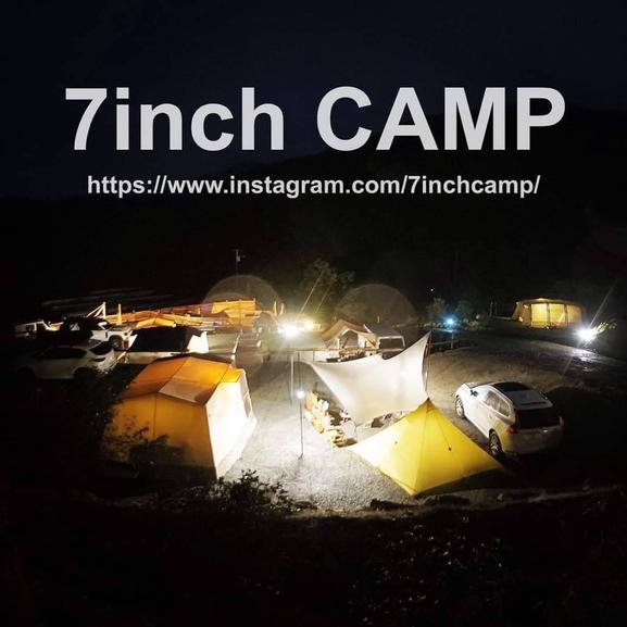 キャンプ場からの甲府の夜景