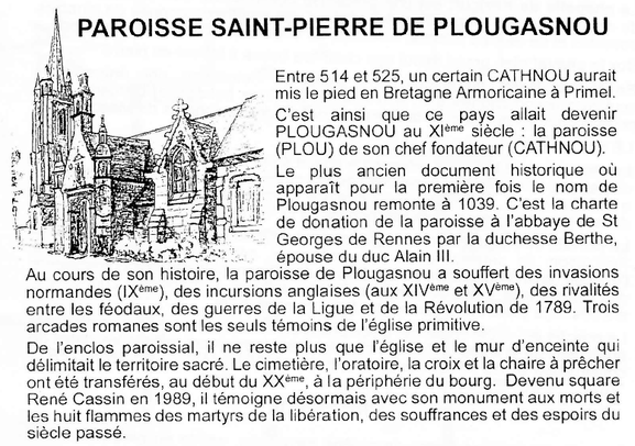 Paroisse Saint Pierre de Plougasnou - Document d'archive