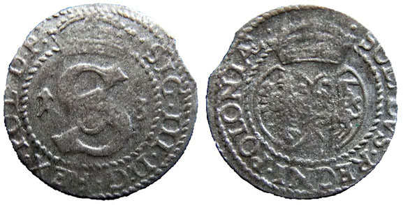Awers: 1S3  .SIG.III.D;G.REX.POL.D.P.  Rewers:  .SOLIDVS.REGNI.POLONIAE.