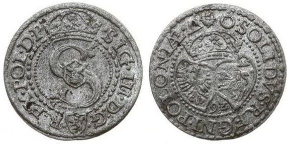 Awers:  S   .SIG.III.D:G.   .REX.POL.D.P.     Rewers:  9Z   :SOLIDVS.REGNI.POLONIAE.