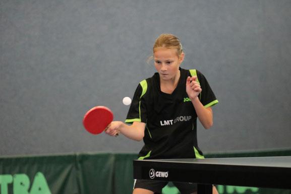 Wurde ihrer Favoritenstellung bei den Landestitelkämpfen der Schülerinnen B in Eggebek gerecht: Die neue Einzel-Landesmeisterin Julia Braasch vom TSV Schwarzenbek.