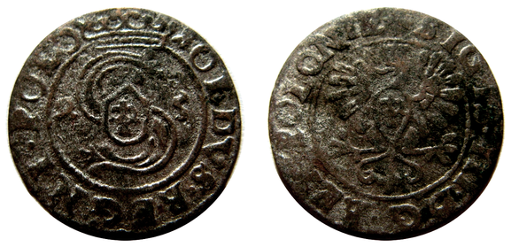 Awers:  2 S 5 SOLIDVS.REGNI.POLO   Rewers: SIGIS.III.D G.REX.POLONIE+