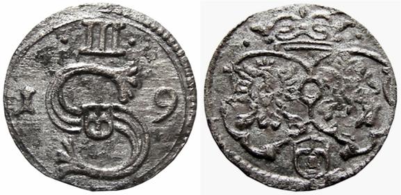 Awers: III 1 S 9           Rewwrs: Ukoronowane herby Polski, Litwy i Snopek Wazów
